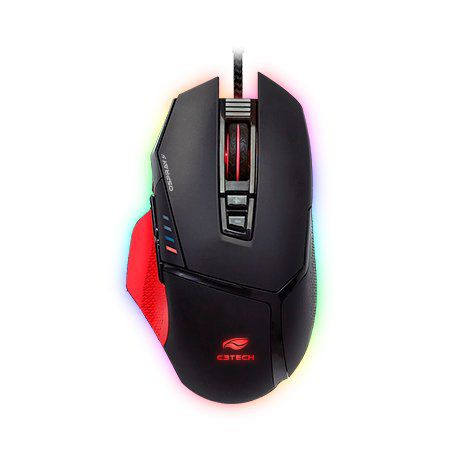 MOUSE GAMER USB OSPREY 12000DPI MG-800BK - C3