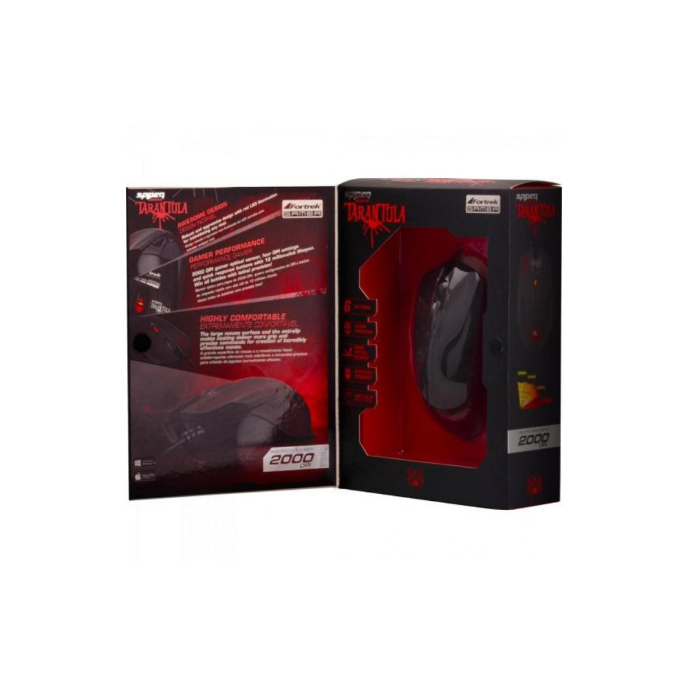 MOUSE GAMER USB TARANTULA OM702 PRETO - FORTREK