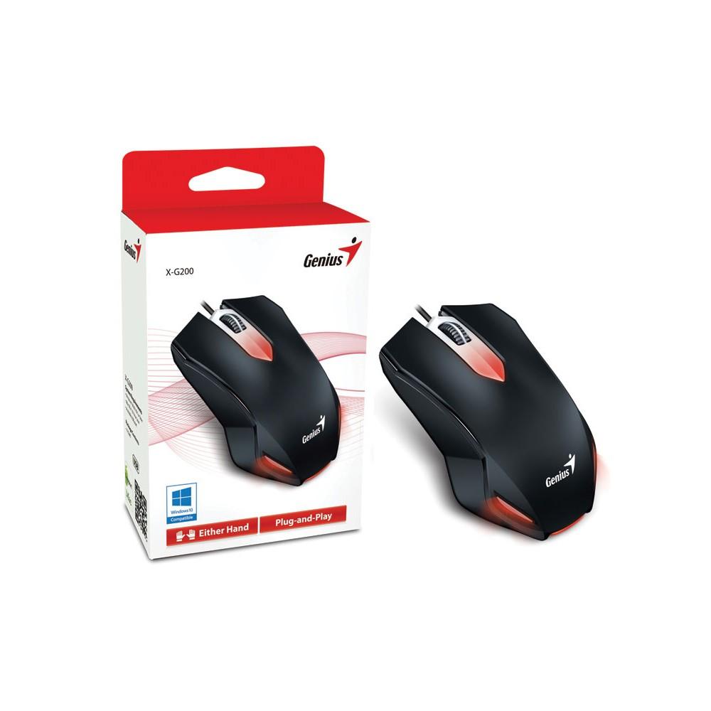 MOUSE GAMER USB X-G200 PRETO - GENIUS