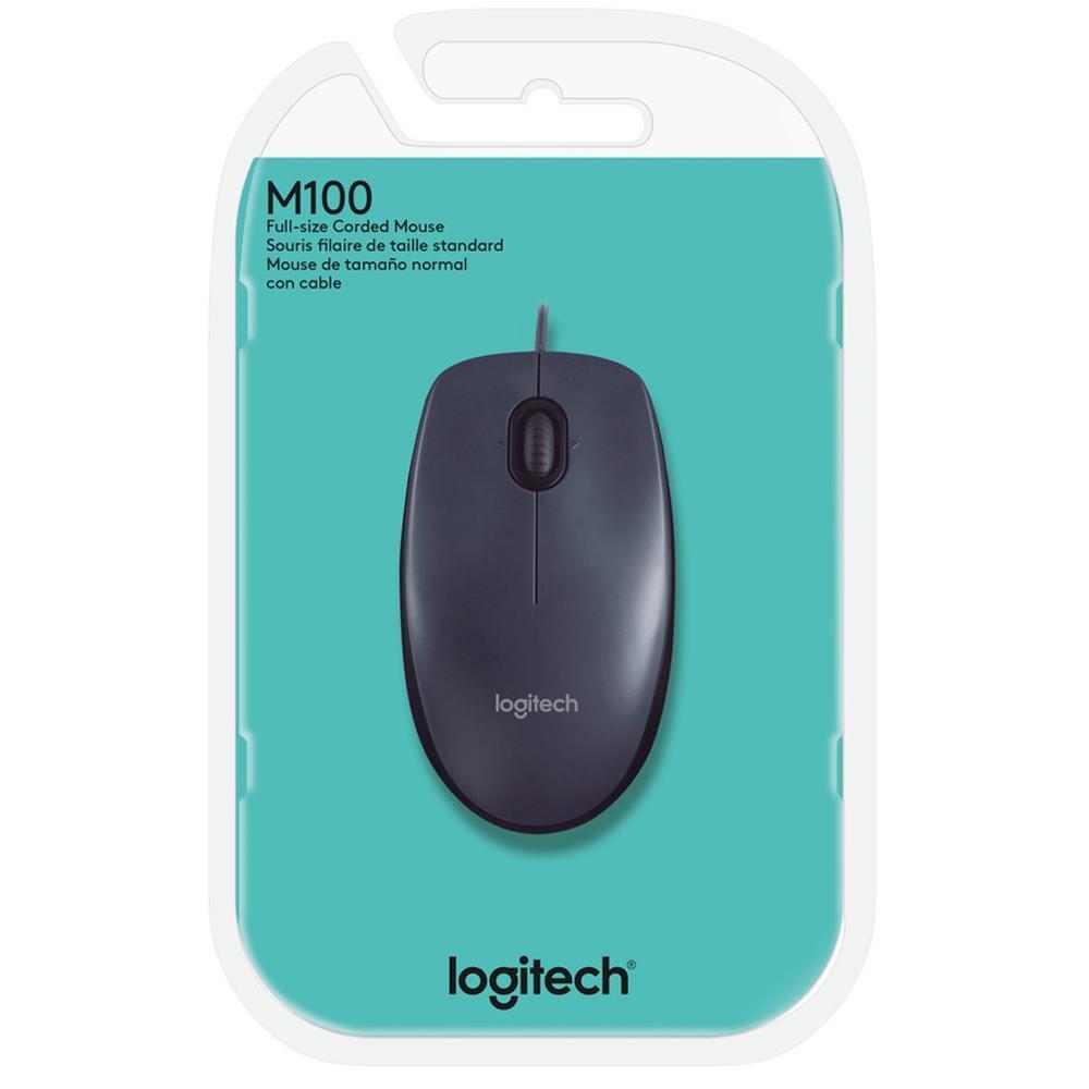 MOUSE ÓPTICO USB 1000DPI M100 PRETO - LOGITECH