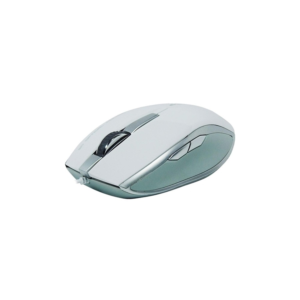 MOUSE OPTICO USB 1000DPI OM301 BRANCO - FORTEK