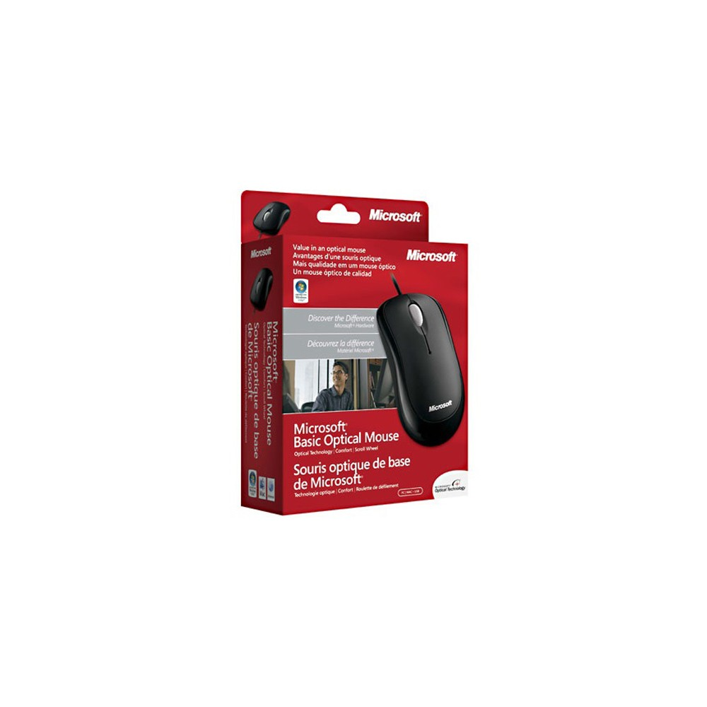 MOUSE OPTICO USB BASIC P58-00061 PRETO - MICROSOFT