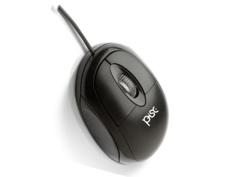 MOUSE OPTICO USB PRETO 1807 - PISC