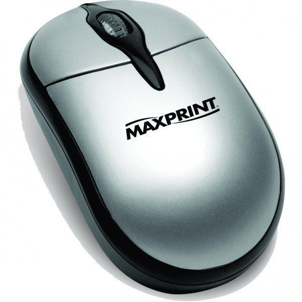 MOUSE OPTICO USB PRETO/PRATA MAXPRINT - 60.324.9