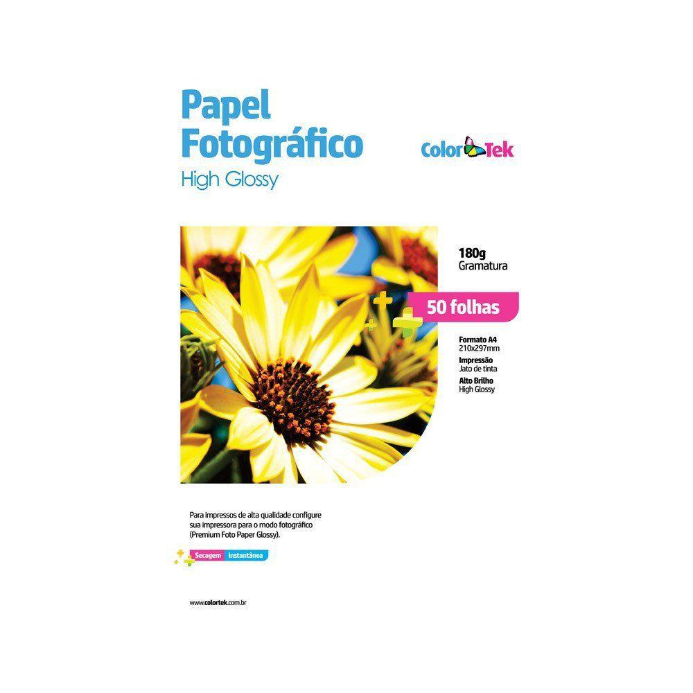 PAPEL A4 FOTO 50 FLS 180GR - GLOSSY