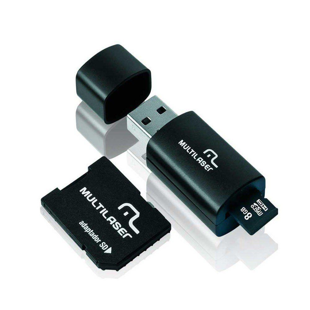 PEN DRIVE 8GB C/ ADAP.+MICRO SD+CART. MEMORIA MC058-MULT +