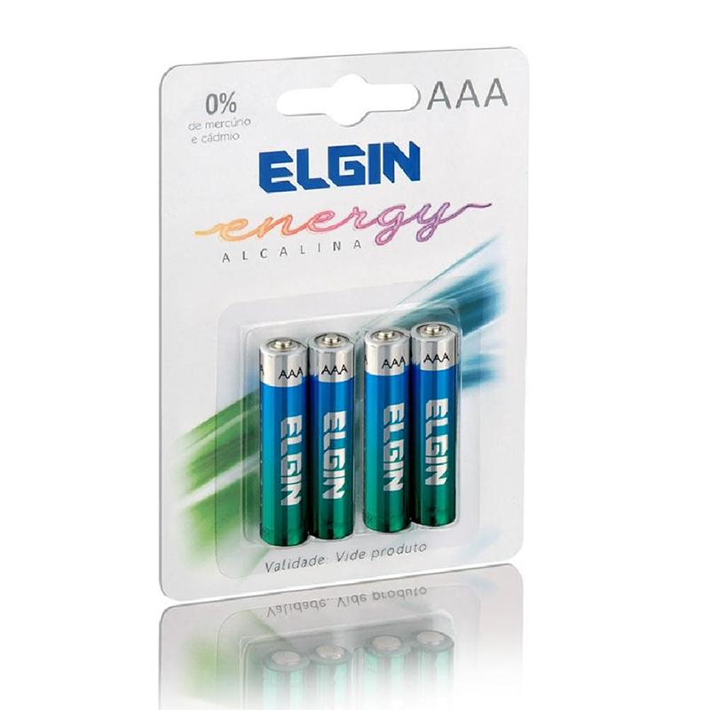 PILHA ALCALINA AAA LR03 1.5V C/4 - ELGIN