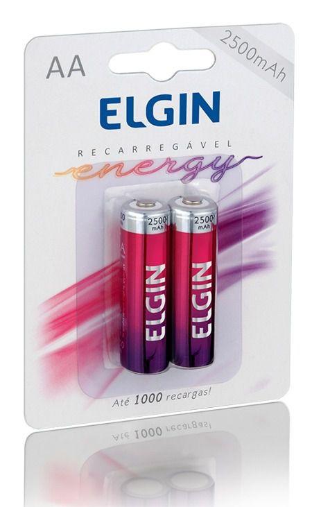 PILHA RECARREGAVEL AA-2500 BLISTER C/2 UN - ELGIN