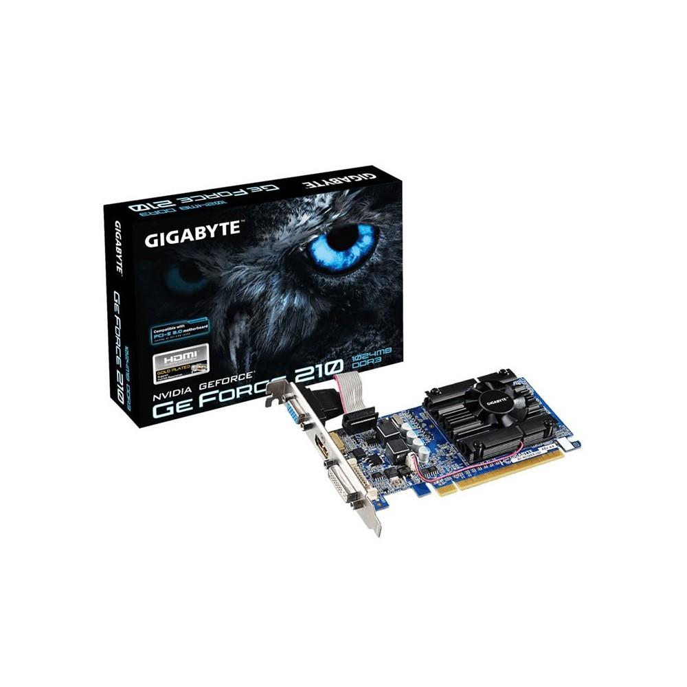 PLACA DE VIDEO GT210 1GB 64B DDR3 NVIDIA GEFORCE GIGABYTE  - GAÚCHA DISTRIBUIDORA DE INFORMÁTICA