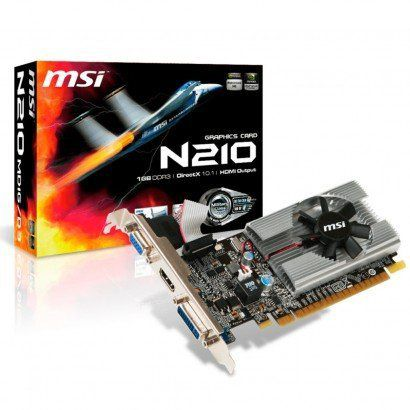 PLACA DE VIDEO GT210 1GB 64B DDR3 NVIDIA GEFORCE MSI  - GAÚCHA DISTRIBUIDORA DE INFORMÁTICA