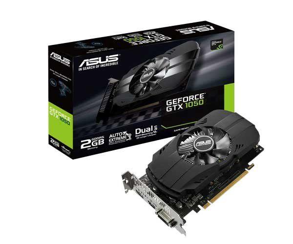 PLACA DE VIDEO GTX1050 2GB 128BITS DDR5 NVIDIA - ASUS