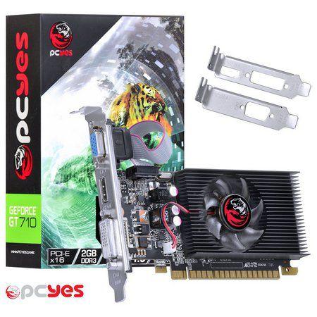 PLACA DE VIDEO PCI-E GT710 2GB 64B DDR3 NVIDIA - PCYES