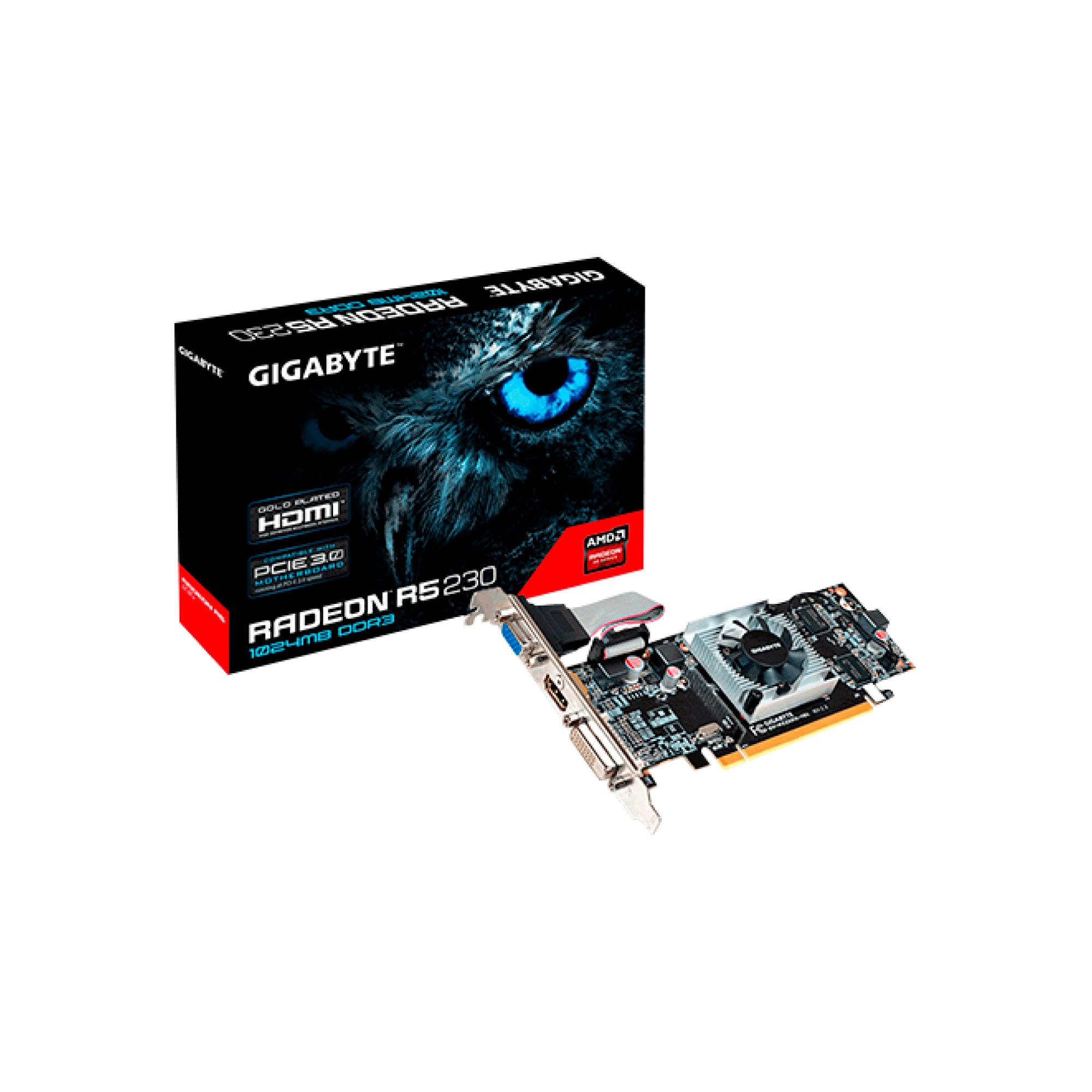 PLACA DE VIDEO PCI-E R5 230 1GB DDR3 GV-R523D3-1GL LOW PROFI