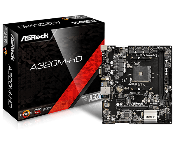 PLACA MAE A320M-HD DDR4 SOCKET AM4 HDMI BOX - ASROCK