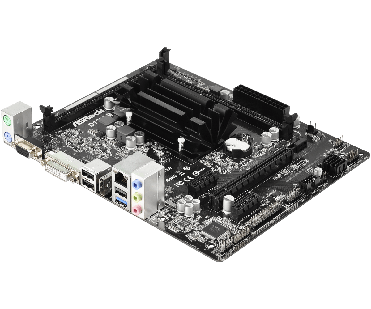 PLACA MAE D1800M C/ PROC INT INTEL J1800 HDMI - ASROCK