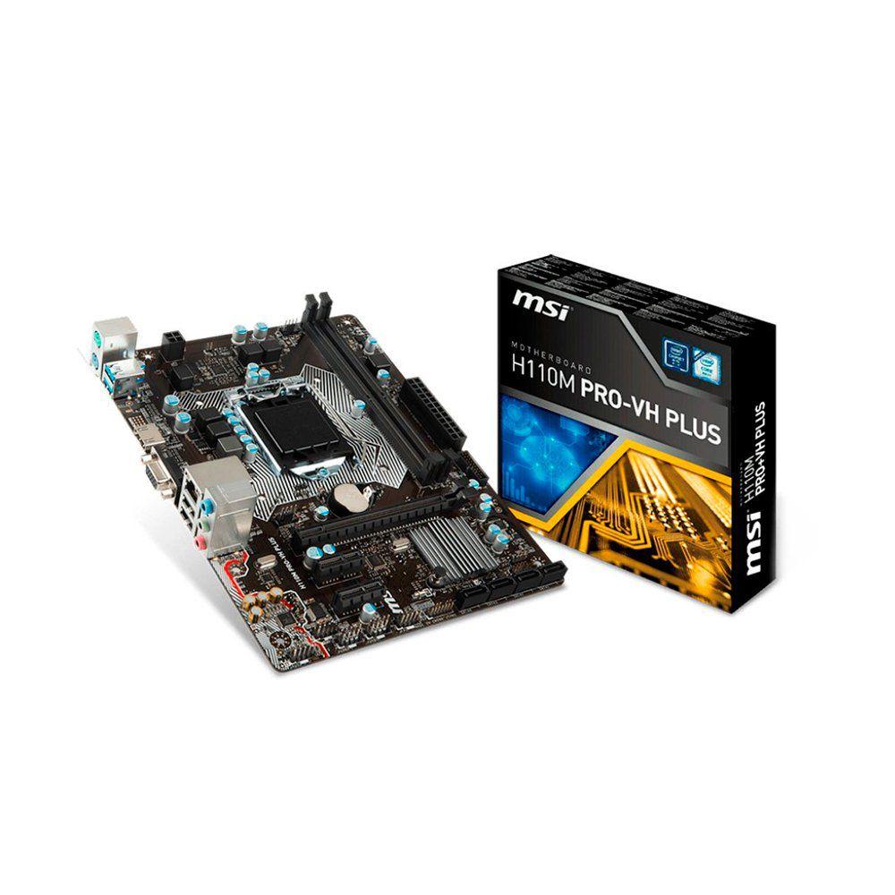PLACA MAE H110M PRO-VH PLUS (HDMI/VGA) DDR4 1151 BOX - MSI