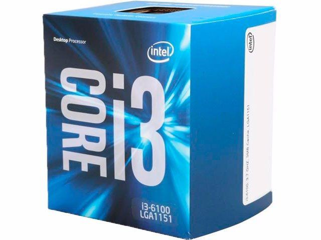 PROCESSADOR CORE I3 6100 3.7GHZ SKYLAKE LGA 1151 - INTEL