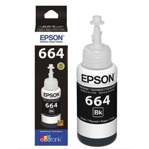 REFIL DE TINTA EPSON T664120AL BK 70ML ORIGINAL