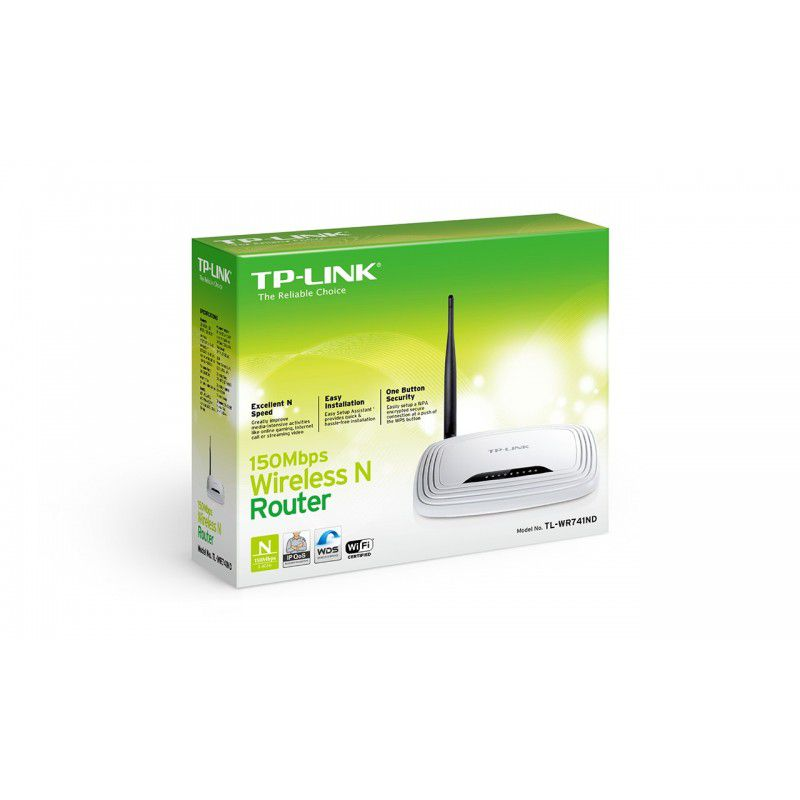ROTEADOR WIRELESS 150MBPS TL-WR741ND C/1 ANT - TP-LINK