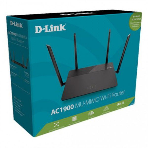 ROTEADOR WIRELESS 1900MBPS AC1900 DIR-878 C/4 ANT- D-LINK