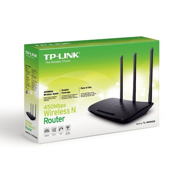 ROTEADOR WIRELESS N 450MBPS TL-WR940N C/3 ANT- TP-LINK