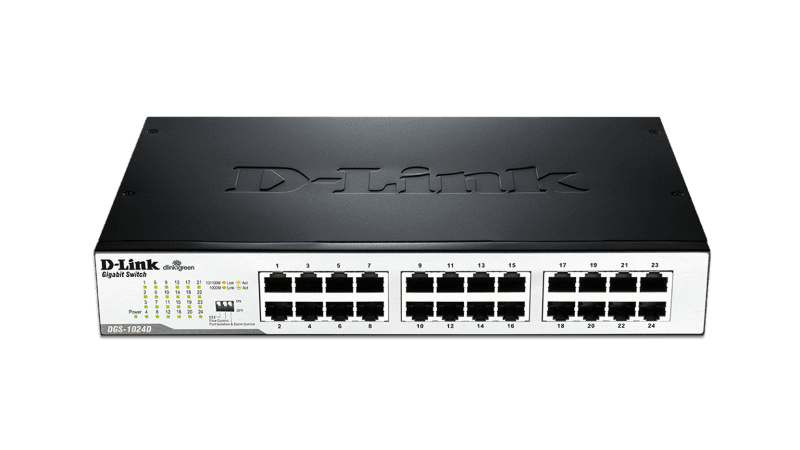 SWITCH 24PTS 10/100 MBPS ETHERNET DES-1024D - D-LINK