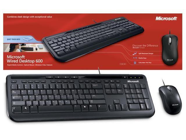 TECLADO + MOUSE USB 600 APB-00005 PRETO - MICROSOFT