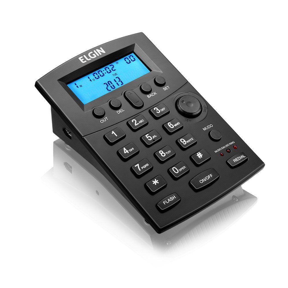 TELEFONE HEADSET HST-8000 PRETO - ELGIN  - GAÚCHA DISTRIBUIDORA DE INFORMÁTICA