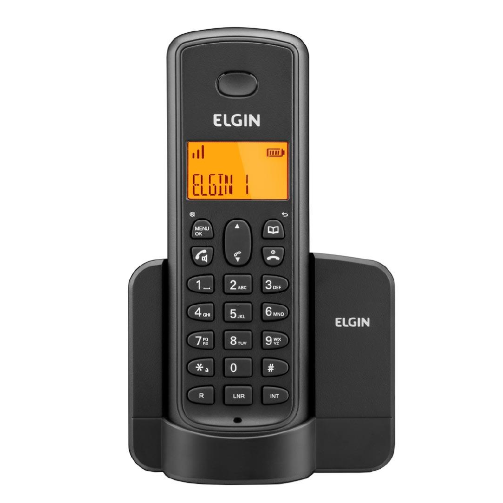 TELEFONE SEM FIO TSF 8001 ID C/ VIVA VOZ PRETO - ELGIN