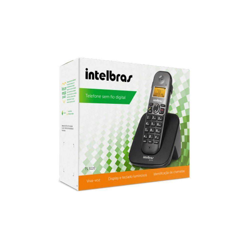 68a7d54f2 Telefone Intelbras TS 5120 com viva voz e sem fio