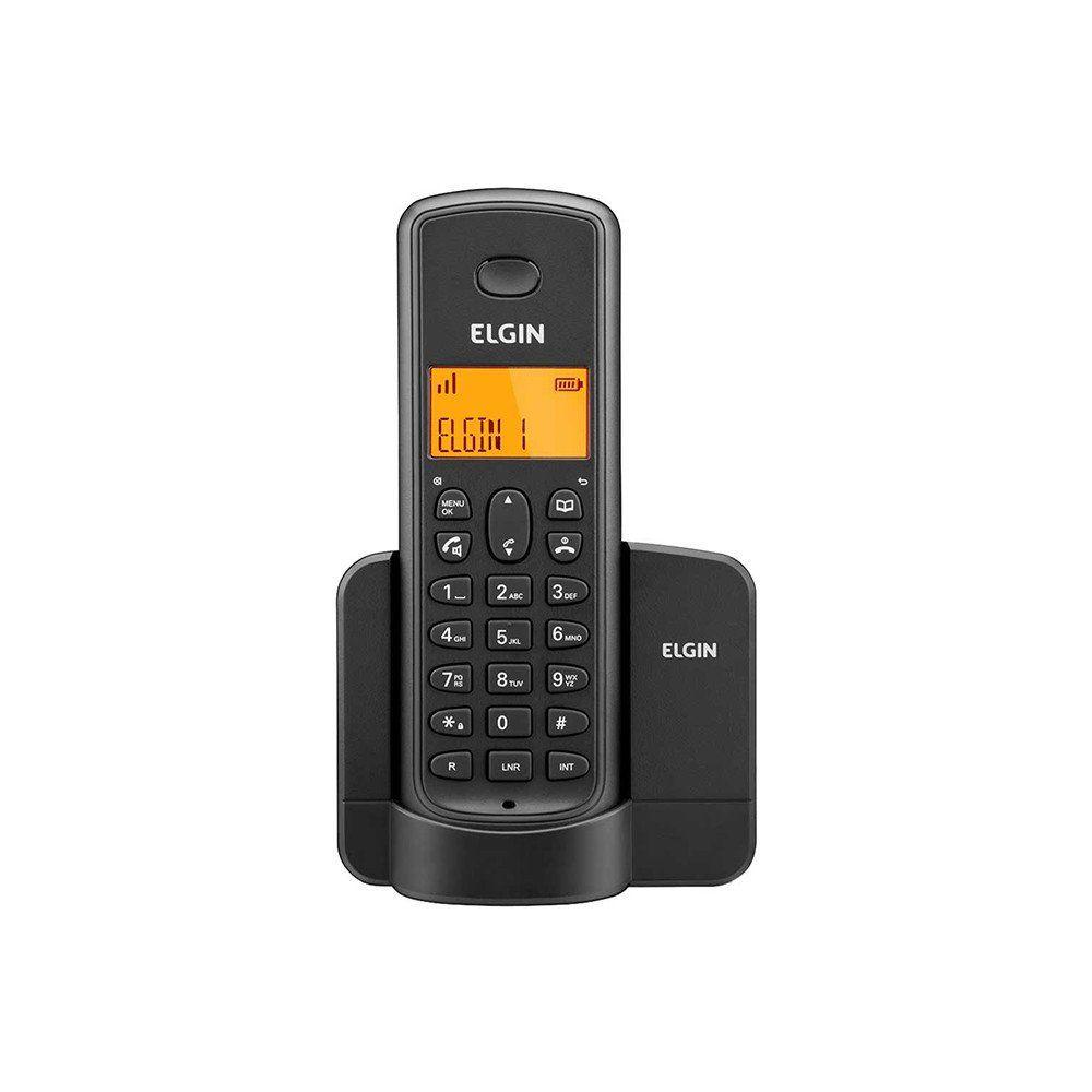 TELEFONE TSF 8001 C/ VIVA VOZ S/ FIO PRETO -  ELGIN  - GAÚCHA DISTRIBUIDORA DE INFORMÁTICA