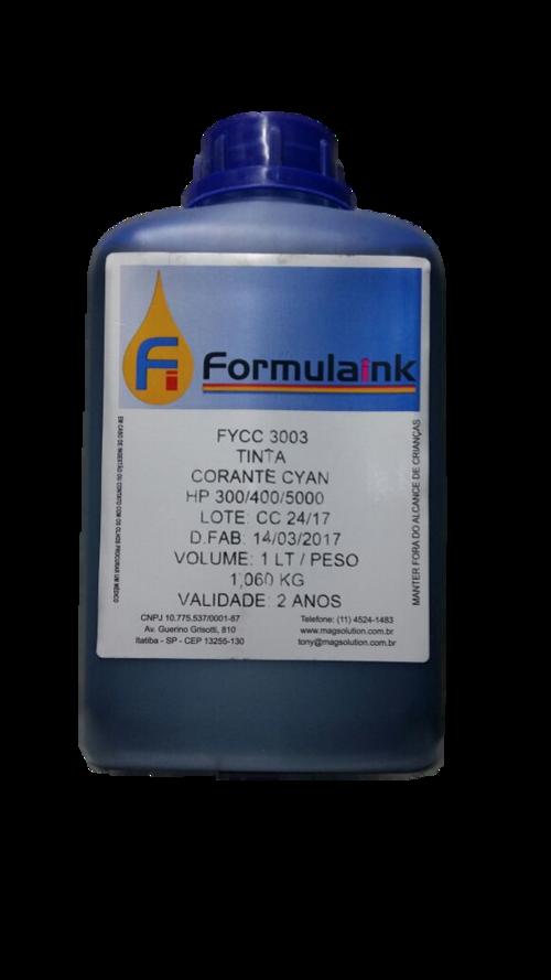 TINTA HP UNIVERSAL CORANTE CY 1LT - FYCC3003 - FORMULA INK