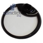 Base Inferior Circular em Acrílico Transparente para Monitor Samsung T22A550, T24A550