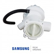 Bomba de Drenagem 110V para Lavadora e Lava e Seca Samsung Q1244ATDW, WD6122CKC, WD6122CKS