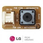 Botão Liga / Desliga da Evaporadora 6871A20259D para Ar Condicionado LG Diversos Modelos