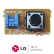Botão Liga / Desliga Evaporadora 6871A20231C Ar Condicionado LG TSNC092ERM1 TSNC122ERM1 TSNC1828RM0