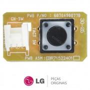 Botão Liga / Desliga Evaporadora Ar Condicionado LG TSNC092B4A0, USNQ122HSG3, USNW092WSZ2