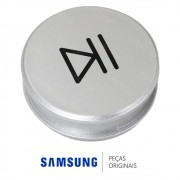 Botão Play / Pause Prata para Lava e Seca Samsung WD6122CKS e WD6122CKSF
