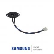 Cabo / Conector Entrada de Energia TV Samsung UN60JS7200G