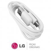 Cabo USB Tipo C Branco 1 Metro Celular LG G5 SE, LG 360 CAM, LG V35 ThinQ, LG G6