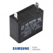 Capacitor 2.5UF, 450V do Motor do Ventilador da Condensadora Ar Condicionado Samsung 18.000 / 24.000