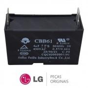 Capacitor CBB61 450VAC 4uF +10-5% do Ventilador da Condensadora para Ar Condicionado LG TSUH122H4W0