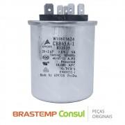 Capacitor Duplo do Compressor CBB65A-1 B33335 20 + 2uF 380VAC W10603634 Ar Condicionado Consul