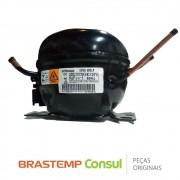 Compressor 1/6 R600 127V EM2T60CLP Refrigerador Brastemp BRE57ABANA BRE57AKANA BRM44HBANA BRM56ZK