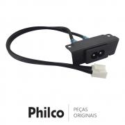 Conector de Entrada de Energia / Cabo de Força 10A 250V TV Philco PTV65A16SA PH55A16DSGWA