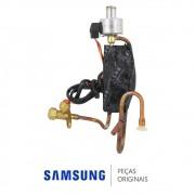 Conjunto Capilar da Condensadora com Válvula de Serviço 1/4 e de Expansão Ar Condicionado Samsung