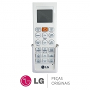 Controle Remoto com Suporte de Parede Branco AKB74955603 Ar Condicionado LG AMNW07GSJA0 AMNW18GSKR0