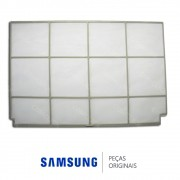 Filtro de Ar Esquerdo FULL HD da Unidade Evaporadora para Ar Condicionado Samsung 9000 e 12000 BTUS