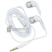Fone de Ouvido EHS64ASFWE Branco Estéreo Intra Auricular 3,5mm Celular Samsung GT-I8530, GT-I9070
