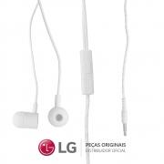 Fone de Ouvido Estéreo Branco 20W 16 OHMS EAB64168751 / EAB64168752 LG para Smartphone / Celular